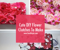 Cute DIY Flower Clutches To Make