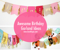 Awesome Birthday Garland Ideas