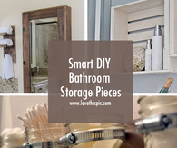 Smart DIY Bathroom Storage Pieces