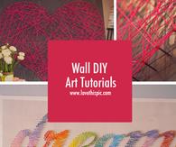 Wall DIY Art Tutorials