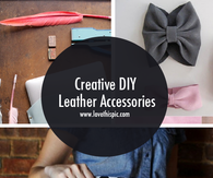 Creative DIY Leather Accessories