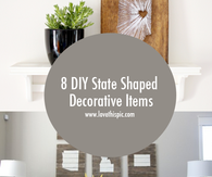 8 DIY State Shaped Decorative Items