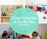 8 Clever Storage Ideas for Your Kids Room