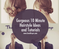 Gorgeous 10 Minute Hairstyle Ideas and Tutorials