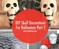 DIY Skull Decorations For Halloween Part 2
