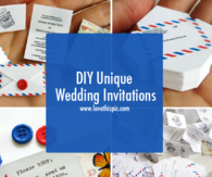 DIY Unique Wedding Invitations
