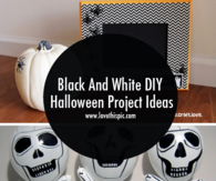 Black And White DIY Halloween Project Ideas