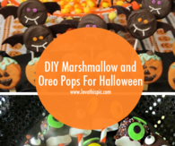 DIY Marshmallow and Oreo Pops For Halloween