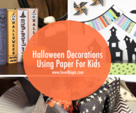 Halloween Decorations Using Paper For Kids