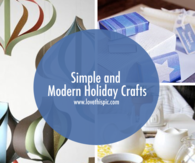 Simple and Modern Holiday Crafts