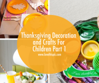 Thanksgiving Decoration and Crafts For Children Part 1