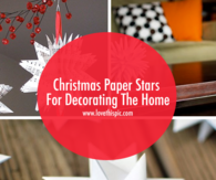 Christmas Paper Stars For Decorating The Home