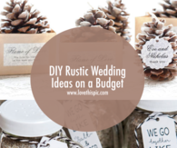 DIY Rustic Wedding Ideas on a Budget