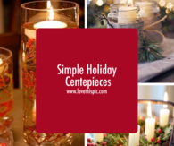 Simple Holiday Centepieces