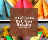 DIY Crafts To Show Thanks During Thanksgiving