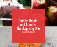 Totally Simple and Creative Thanksgiving DIYs