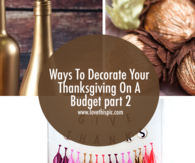 Ways To Decorate Your Thanksgiving On A Budget Part 2