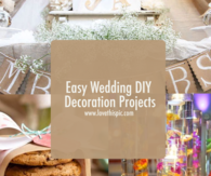 Easy Wedding DIY Decoration Projects