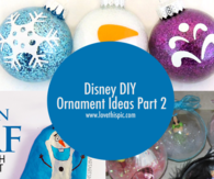 Disney DIY Ornament Ideas Part 2
