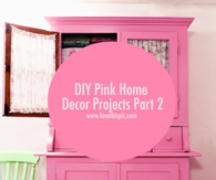 DIY Pink Home Decor Projects Part 2