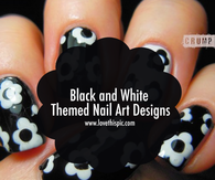 Black and White Themed Nail Art Designs