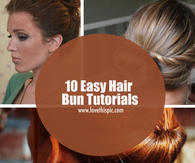10 Easy Hair Bun Tutorials