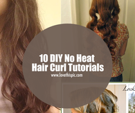 10 DIY No Heat Hair Curl Tutorials