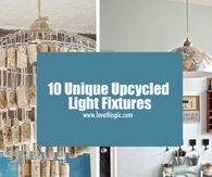 10 Unique Upcycled Light Fixtures