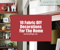 10 Fabric DIY Decorations For The Home