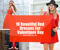10 Beautiful Red Dresses For Valentines Day