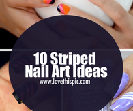 10 Striped Nail Art Ideas