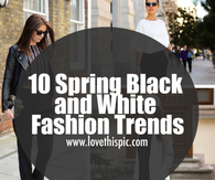 10 Spring Black and White Fashion Trends