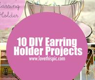 10 DIY Earring Holder Projects