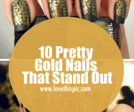 10 Pretty Gold Nails That Stand Out