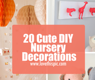 20 Cute DIY Nursery Decorations
