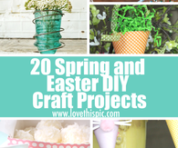 20 Spring and Easter DIY Craft Projects