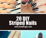20 DIY Striped Nails