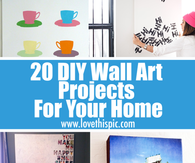 20 DIY Wall Art Projects For Your Home