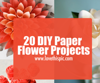 20 DIY Paper Flower Projects