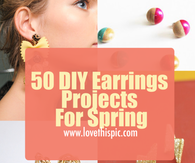 50 DIY Earrings Projects For Spring