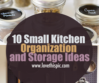 10 Small Kitchen Organization and Storage Ideas