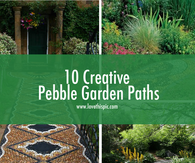 10 Creative Pebble Garden Paths