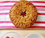 Strawberry Heart Pie on Occasion of Valentines Day