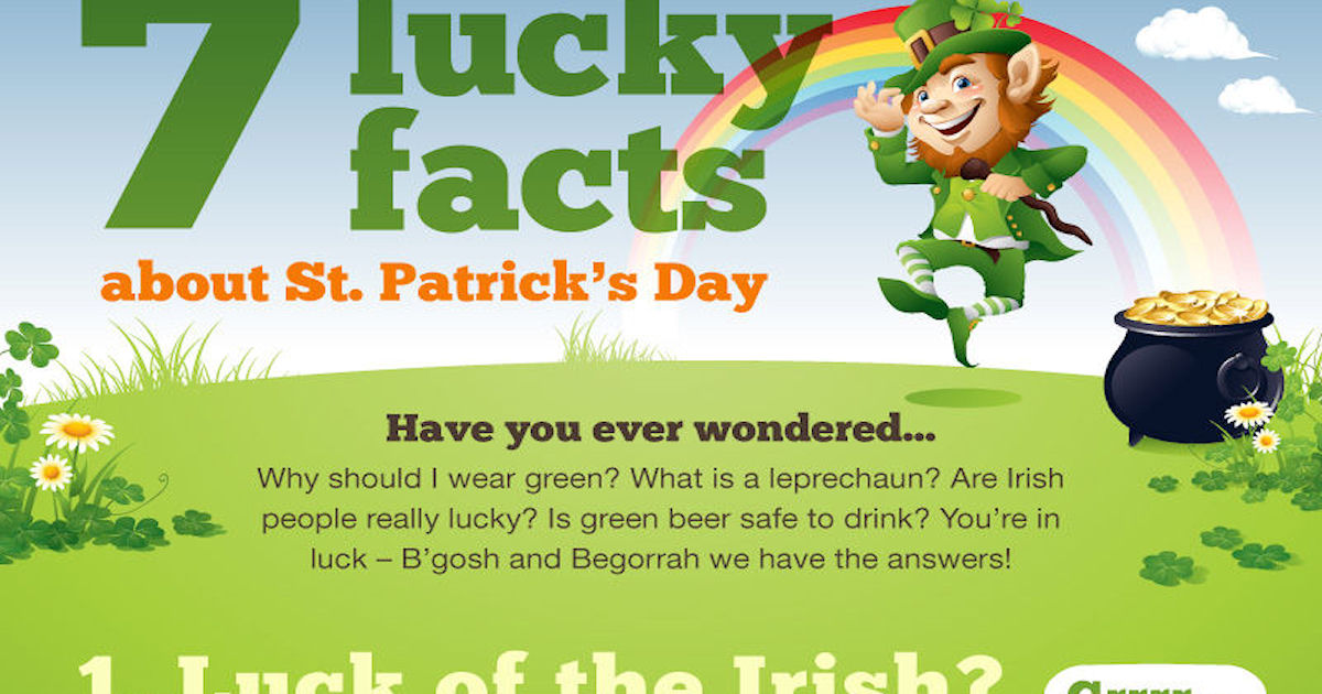 facts about saint patricks day Ahh, st patrick's day: the day when each one of your friends and even your grandfather seems to be irish  10 interesting facts about st patrick's day 10.