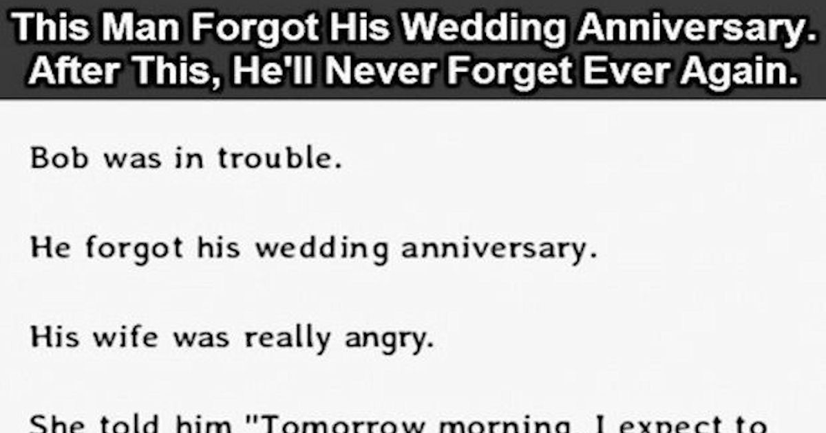 This Man Forgot His Wedding Anniversary But After This He