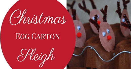 Christmas egg carton sleigh craft pictures photos and for Christmas decorations using egg cartons
