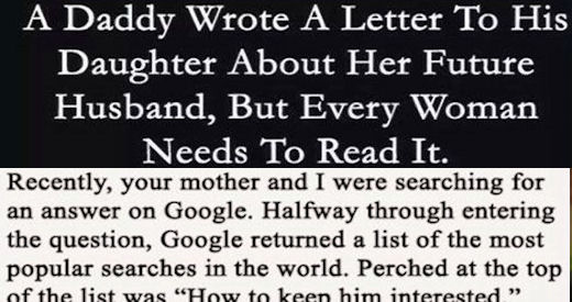 This Father Wrote A Letter To His Daughter About Her Future Husband But Every Woman Needs Read It Pictures Photos And Images For Facebook Tumblr