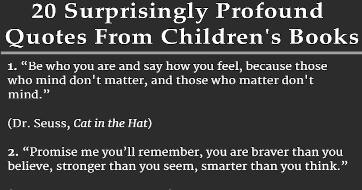 Quotes From Pinterest: 20 Surprisingly Profound Quotes From Children's Books