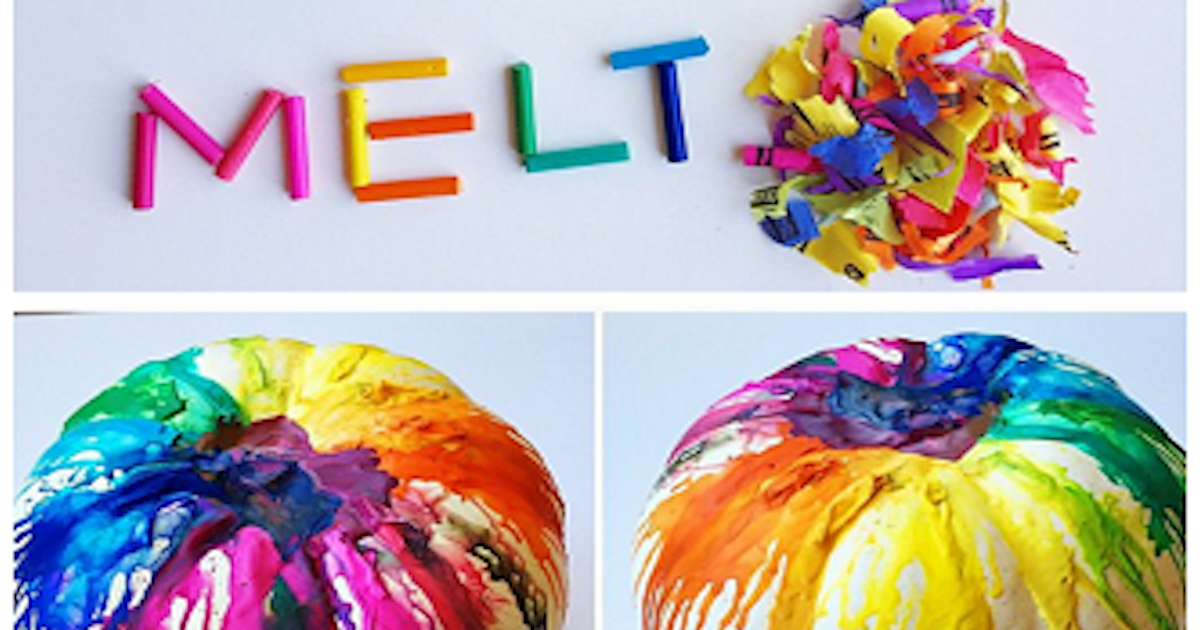 Diy melted crayon pumpkins pictures photos and images for facebook