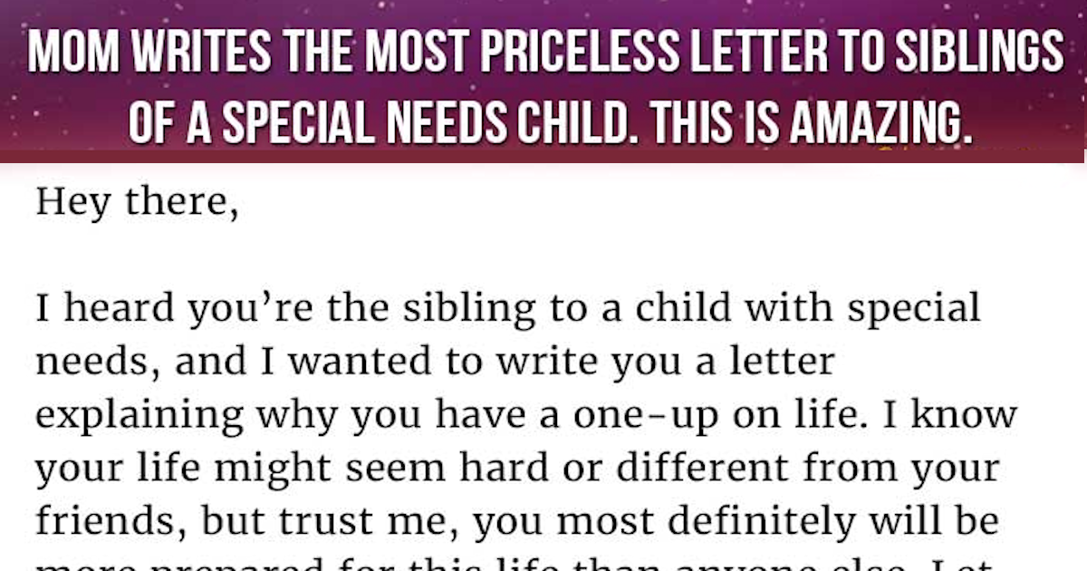 Mom Writes The Most Priceless Letter To Siblings Of A ... Being Yourself Quotes Tumblr
